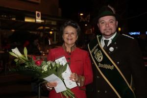 Die Schützengilde Bruckhäusl gratulierte.