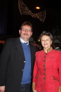 Vizebgm. Dr. Andreas Taxacher mit dem Geburtstagskind Bgm. Hedi Wechner.