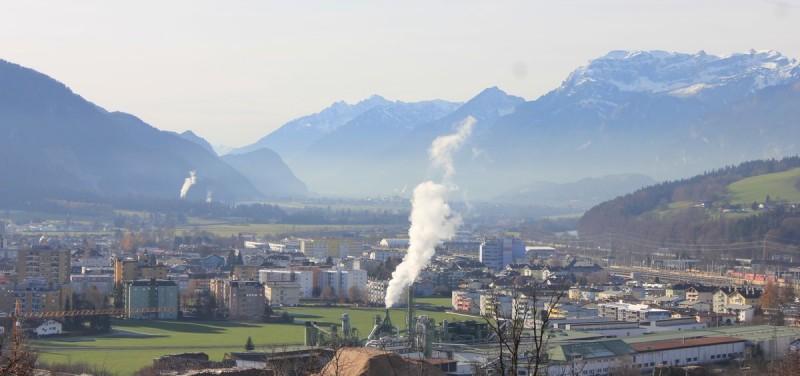 Luftverschmutzung Inntal bei Wörgl Dezember 2015