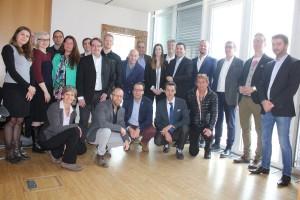 TeilnehmerInnen des I.E.C.T.-Workshops am 21. Jänner 2016 in Wörgl sowie Wörgls Wirtschaftsreferent Mario Wiechenthaler (rechts).