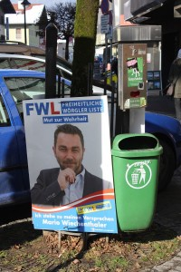 Jedes Fleckerl wird für Wahlplakate genutzt.