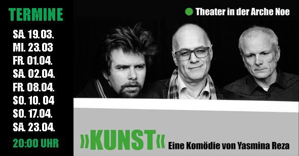 """Theater in der Arche Noe: """"Kunst"""". Foto: Arche Noe"""