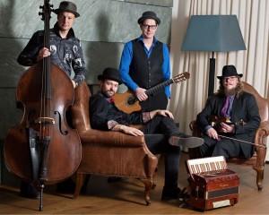 Das Tyrol Music Project - von links Hubert und Toni Klingler, Max Hechenblaikner und Lukas Riemer. Foto: Michelle Hirnsberger