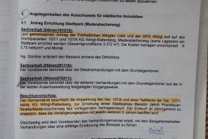 Gemeinderatsbeschluss vom 24.11.2011