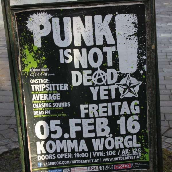 Punk is not dead - Konzert am 5.2.2016 im Komma Wörgl.