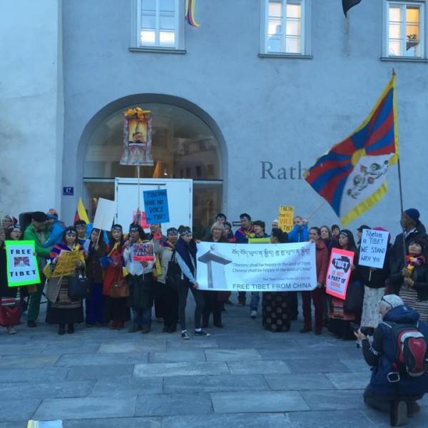 Tibet-Tag in Kufstein. Foto: Tibeter Gemeinschaft Österreich