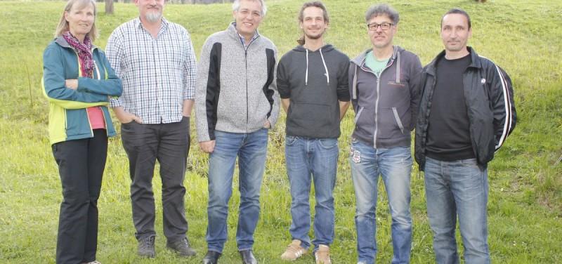 Engagieren sich für die Filz – v.l. Maria Ringler, Georg Griesser, STR Emil Dander, Philipp Larch, Kurt Lechner und Alois Ortner.