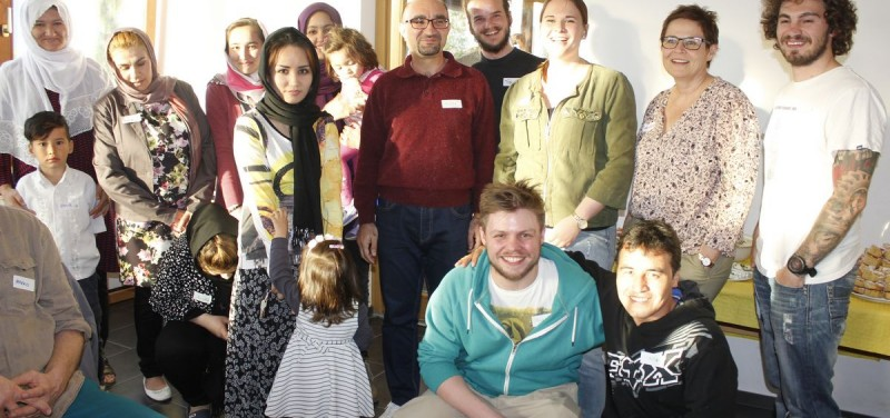 Komm!unity-Dinner im Flüchtlingsheim Badl in Wörgl April 2016