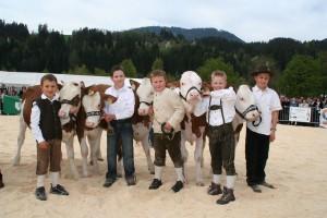 """Für die """"Bambinis"""" gibt´s eine eigene Wertungskategorie. Foto: Rinderzuchtverband Tirol"""