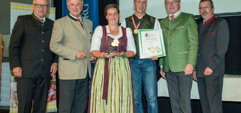 Kasermandl in Gold für Wörgler Schwoicherbauern. Foto: Messe Wieselburg