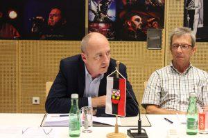 GR Hans-Peter Hager (links) und GR Georg Breitenlechner. Foto: Veronika Spielbichler