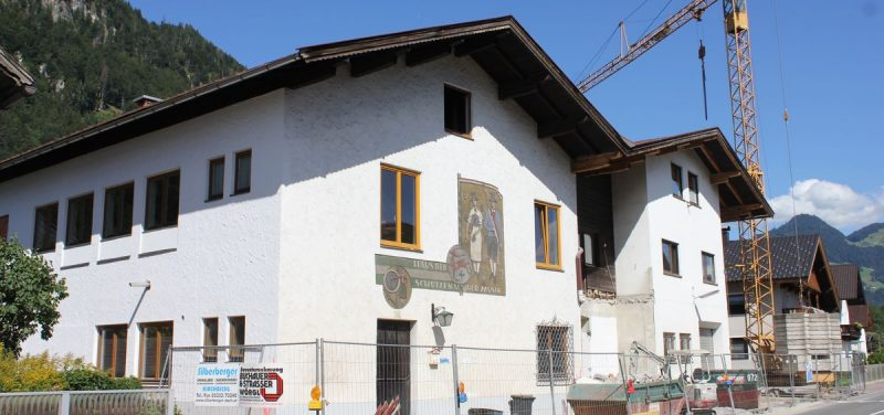 Sanierung Bruckhäusler Vereinshaus 2016. Foto:Veronika Spielbichler