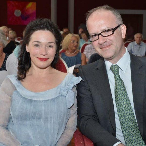 Julia Stemberger und Prof. Konrad Jarnot . Foto: Hannes Dabernig