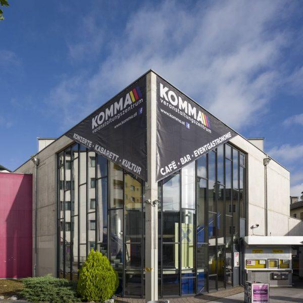 Das Veranstaltungszentrum Komma besteht seit 20 Jahren. Foto: Dabernig