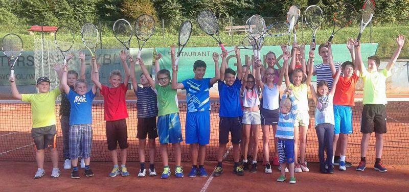 Sichtlich Spaß hatten die Teilnehmer der Jugendstadtmeisterschaften 2016. Foto: TC Wörgl