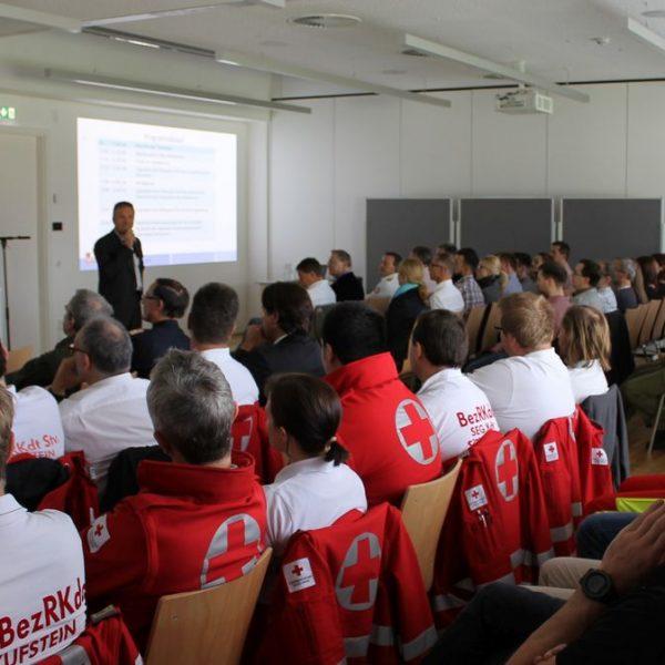 Katastrophenschutz-Fortbildung beim Samariterbund in Kirchbichl 20.10.2016. Foto: ÖRK