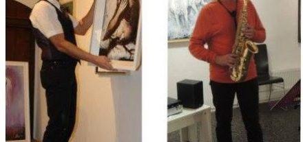 Wilhelm Lientscher (links) und Sepp Rangger (rechts) stellen in der Galerie am Polylog in Wörgl neue Bilder aus. Foto: privat