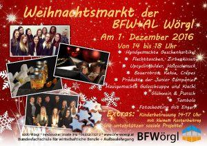 Plakat Weihnachtsmarkt BFW + AL Wörgl.