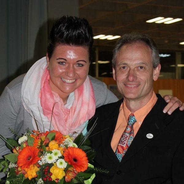 Sportreferent Vizebgm. Hubert Aufschnaiter und Sabine Seiwald. Foto: Veronika Spielbichler