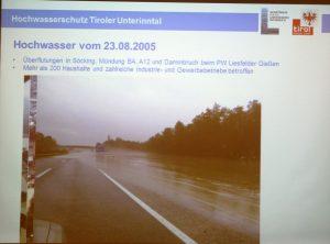 Präsentation Hochwasserschutz Wasserverband Unteres Inntal 20.2.2017 in Wörgl. Foto: Veronika Spielbichler