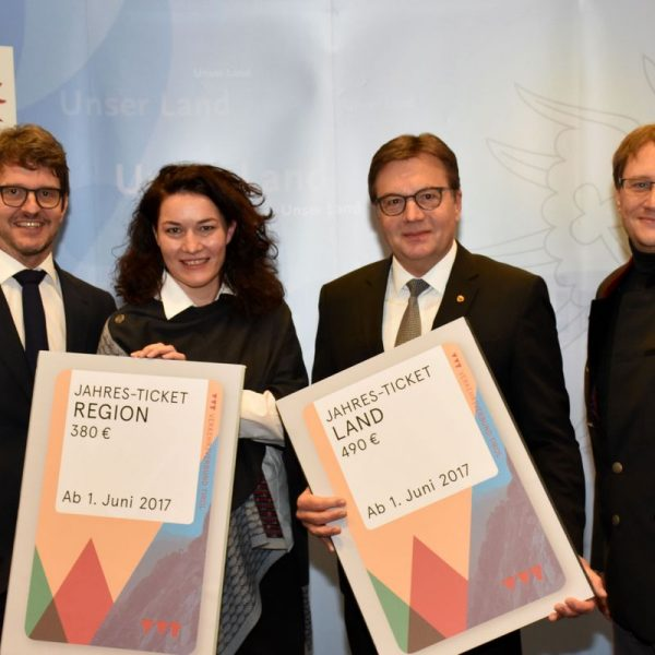 Öffi-Tarifreform Land Tirol 2017. Foto: Land Tirol/Ibele