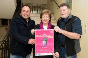 Regisseur und Autor Manfred Schild mit Obfrau der Schlossbergspiele Claudia Lugger und Werner Klikova. Foto: Grießenböck