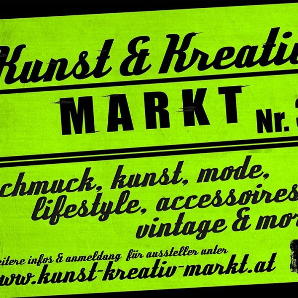 3. Kunst- und Kreativmarkt am 15.4.2017 im Komma Wörgl.