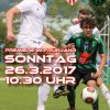 Plakat SV Wörgl 26.3.2017. Foto Unterland