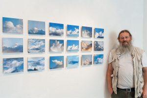 """James Clay bei seinem Zyklos """"Im Himmel"""". Foto: Kurt Härting"""