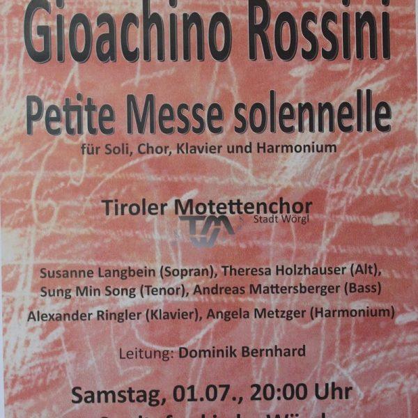 Plakat Tiroler Motettenchor Stadt Wörgl.