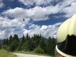 Der Samariterbund Tirol organisierte erstmals eine Flugrettungsübung für alle Tiroler Rettungsorganisationen. Foto: Samariterbund Tirol