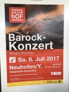 Das Wörgler Streicher- und Bläserensemble gab am 8. Juli 2017 ein Konzert in Neuhofen an der Ybbs. Foto: Wörgler Streicher- und Bläserensemble