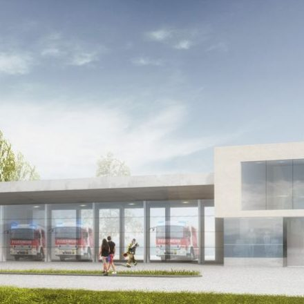 So wird das neue Wörgler Feuerwehrhaus aussehen. Bildnachweis: ARGE Schafferer – Mahore