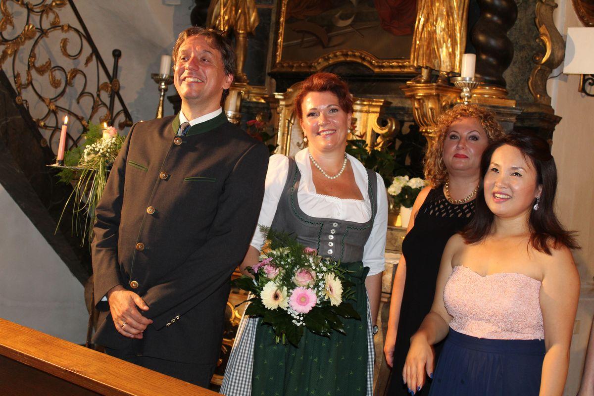 Academia Vocalis Abschlusskonzert Karlheinz und Verena Hanser am 4. August 2017 in der Pfarrkirche Kirchbichl. Foto: Veronika Spielbichler