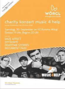 Plakat Charity-Konzert in Wörgl am 30.9.2017.