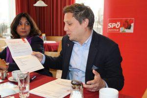 SPÖ-Wahlwerbe-Auftakt in Wörgl am 19.9.2017. Foto: Veronika Spielbichler