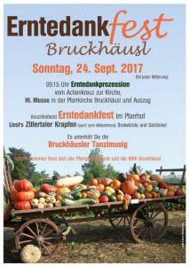 Am 24. September 2017 laden Pfarrgemeinderat und BMK Bruckhäusl zum Erntedankfest. Foto: Zillerdruck