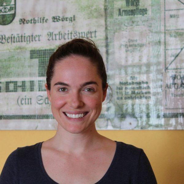 Verena Altenberger im Unterguggenberger Institut in Wörgl. Foto: Veronika Spielbichler