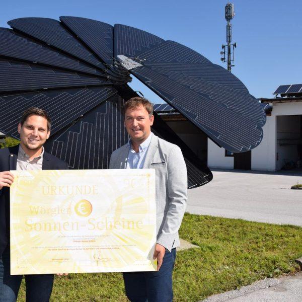 Sonnenscheine für bedürftige Wörgler Familien. Foto: Stadt Wörgl/Haberl