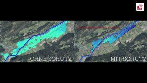 160 Hektar Bauland und 2.200 Gebäude zwischen Brixlegg und Angath sollen hochwassersicher werden. © Land Tirol