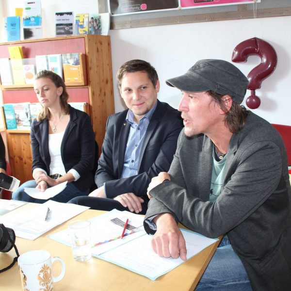 5 Jahre Komm!unity - Pressekonferenz in Wörgl am 28.9.2017. Foto: Veronika Spielbichler
