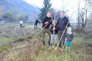 Feuchtbiotop Filz - Arbeitseinsatz Biotop-Pflege Oktober 2017. Foto: Veronika Spielbichler