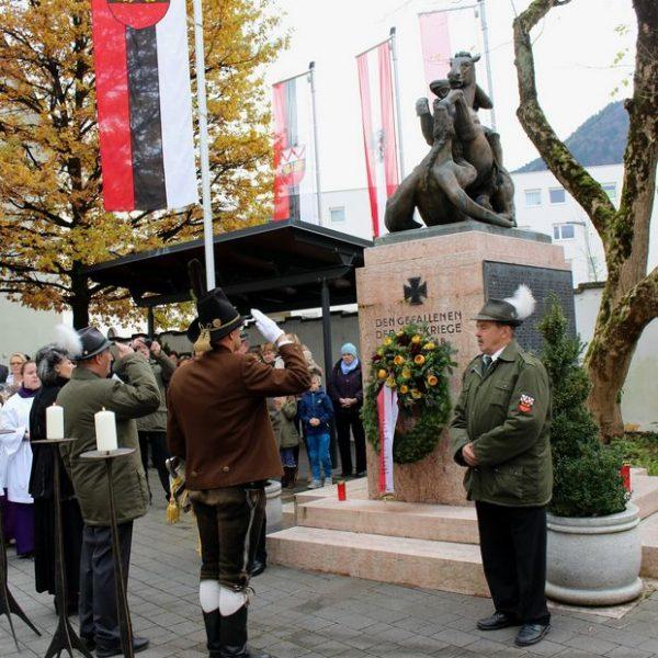 Heldensonntag in Wörgl 5.11.2017. Foto: Wilhelm Maier
