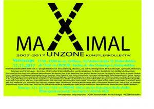 Einladung zur Jubiläumsausstellung 10 Jahre UNZONE.