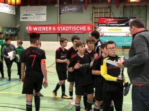 Die U14-Mannschaft des SV Wörgl bei der Siegerehrung in Bruckhäusl. Foto: Ewald Linzbauer