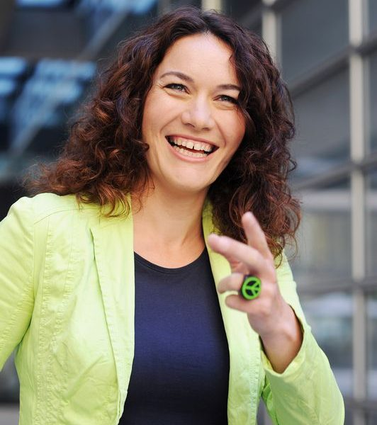 Tirols Spitzenkandidatin bei den Grünen LH-Stv. Mag.a Ingrid Felipe ist am 20.2.2018 beim Philosophischen Café in Kufstein zu Gast. Foto: Tiroler Grüne
