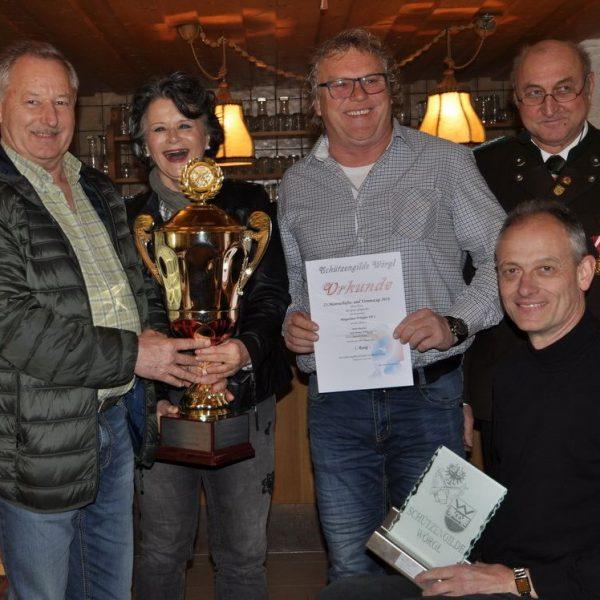 Siegerfoto Herren - v.l.: Stanis Jaworek, Bgm Hedi Wechner, Manfred Mohn, OSCHM Alfred Bauhofer, Hubert Aufschnaiter. Foto: Schützengilde Wörgl