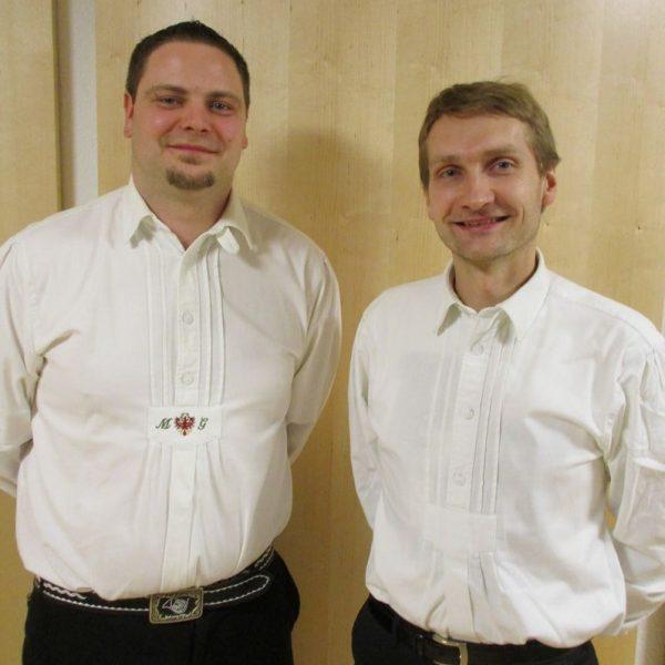 Obmann Martin Gasteiger und Kapellmeister Hannes Ploner (von links). Foto: BMK Bruckhäusl