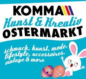 Kunst- und Kreativ Ostermarkt im Komma Wörgl 2018. Grafik: Janus