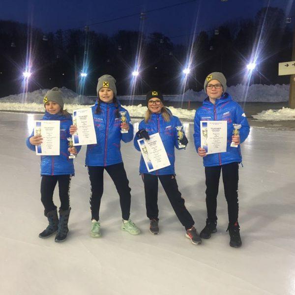 V.l. Sarah Haupt, Ivona Matkovic, Lina Petutschnigg und Alexander Farthofer. Foto: SC Lattella Wörgl